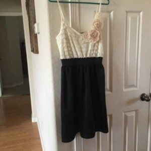 Charlotte Russe beige top and black bottom…